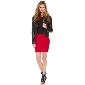 BCBG MaxAzria Red Bandage Skirt